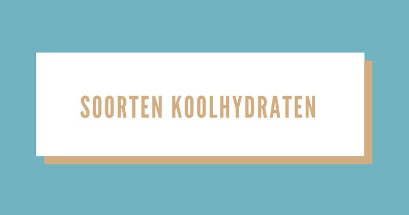 Overzicht soorten koolhydraten