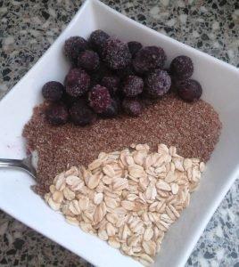 teff ontbijt recept met teff vlokken en havervlokken