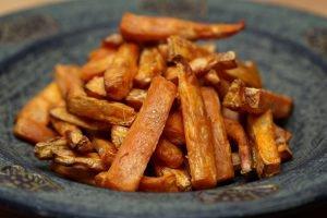 gezonde zoete aardappel friet recept
