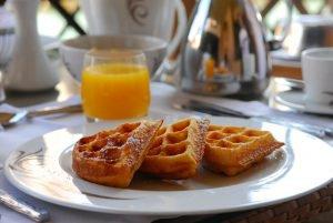 Gezonde oranje wafels