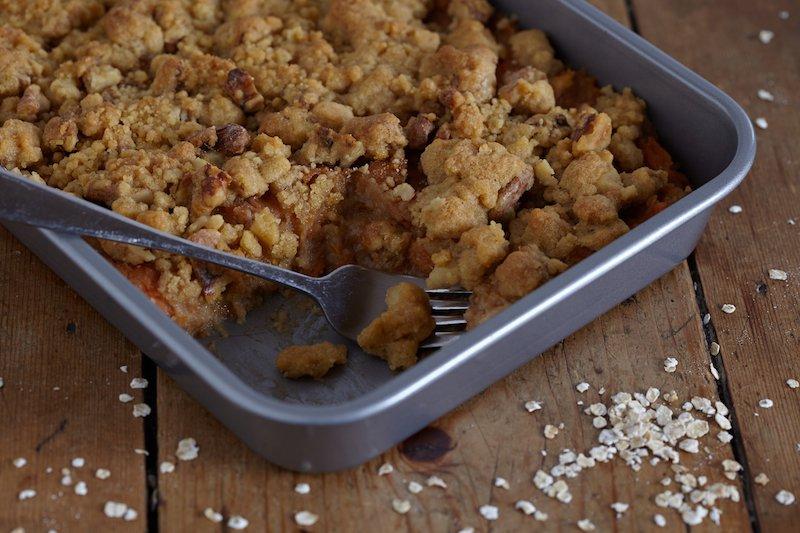 Gezond recept: Havermoutcrumble met zoete aardappel