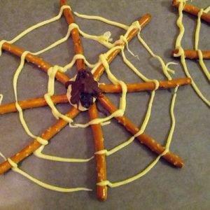 Spinnenweb hapjes halloween