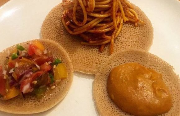 Injera spaghetti